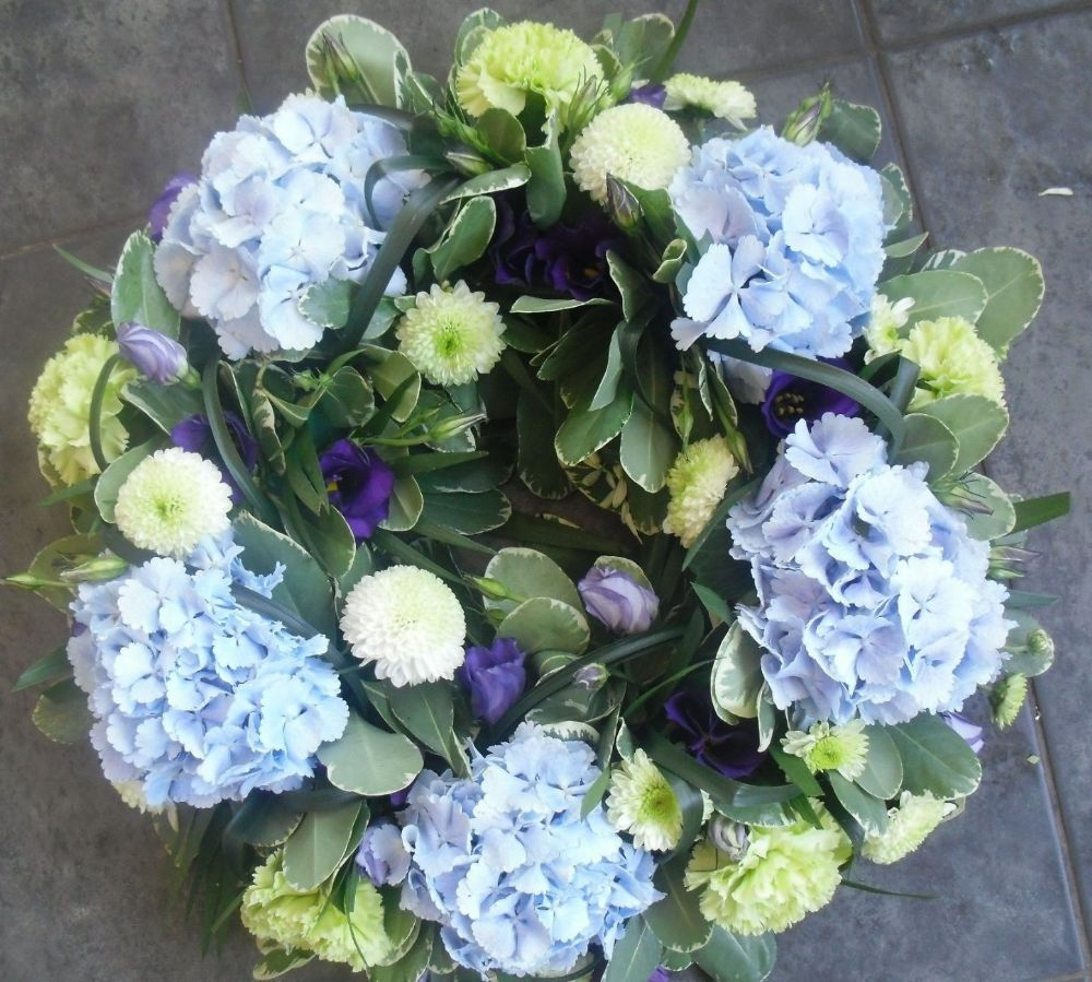 Blue and lime wreath for Lime and blue