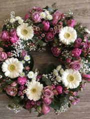 Pink Mixed Wreath